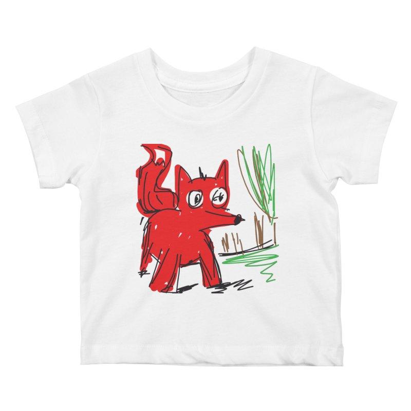 Fox Kids Baby T-Shirt by rimadi's Artist Shop