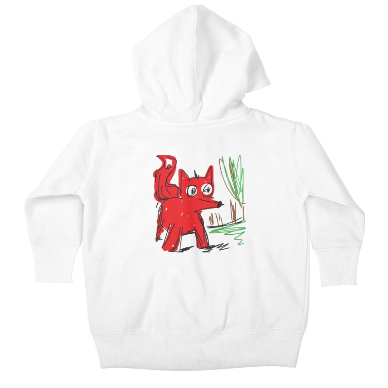 Fox Kids Baby Zip-Up Hoody by rimadi's Artist Shop