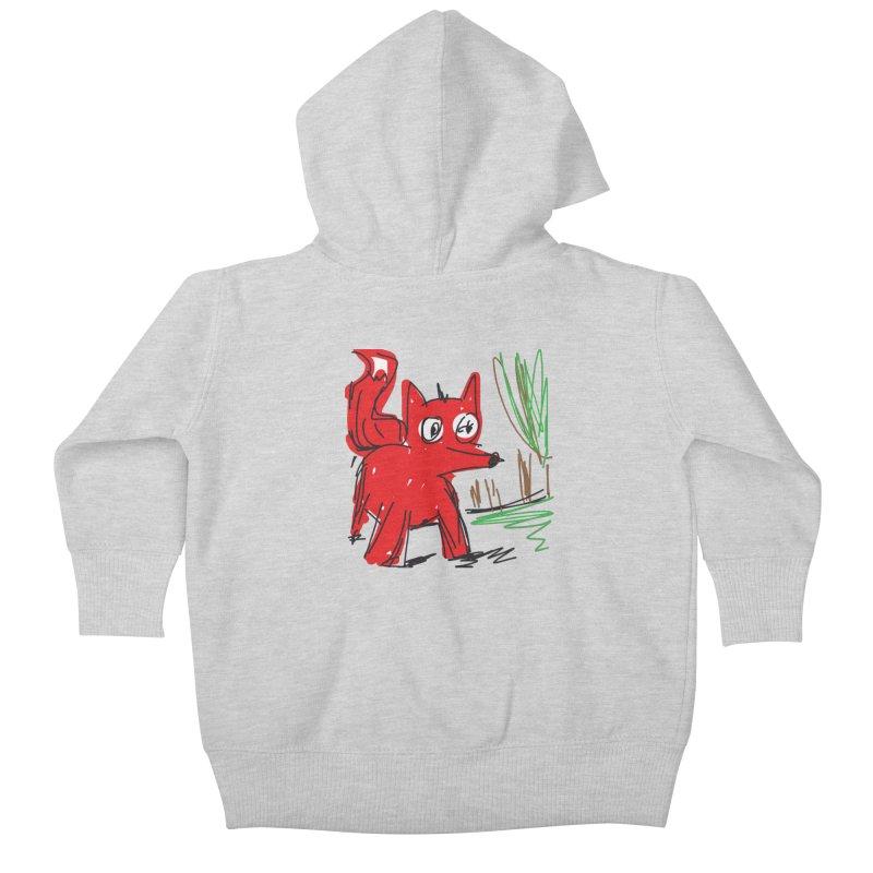 Fox Kids Baby Zip-Up Hoody by rimadi's Artist Shop