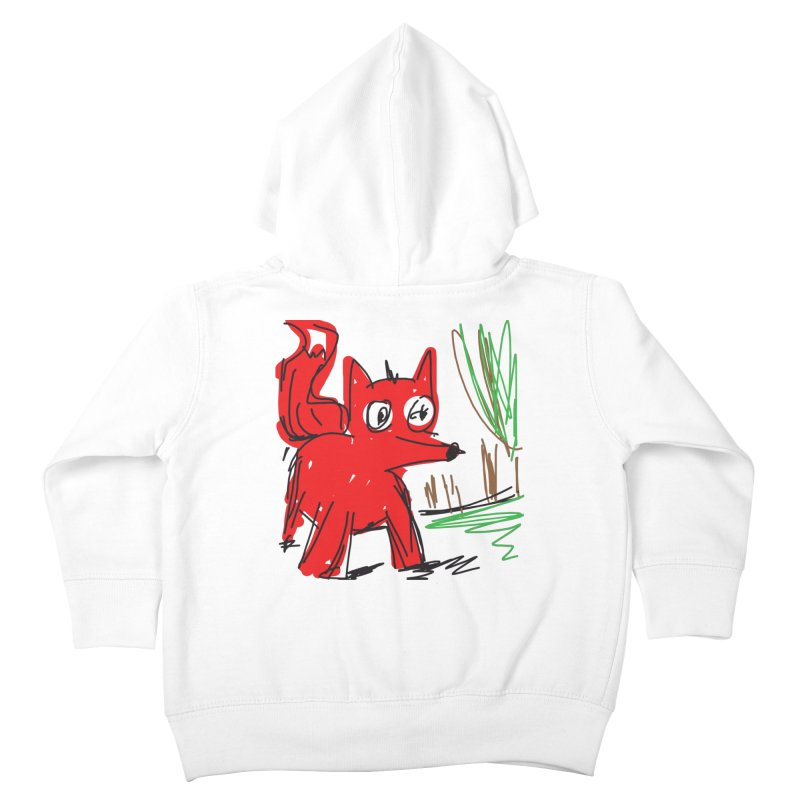 Fox Kids Toddler Zip-Up Hoody by rimadi's Artist Shop