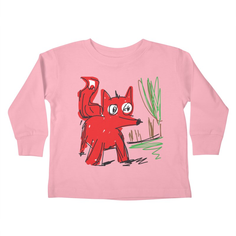 Fox Kids Toddler Longsleeve T-Shirt by rimadi's Artist Shop