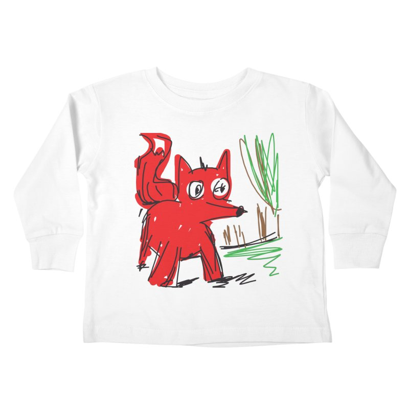 Fox Kids Toddler Longsleeve T-Shirt by rimadi's Artist Shop