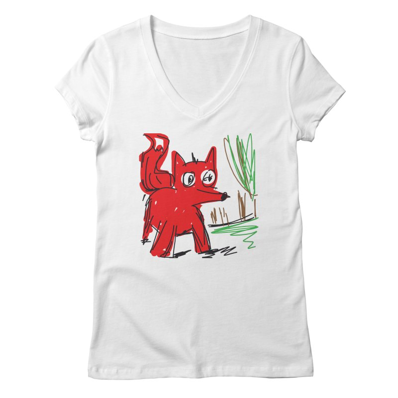 Fox Women's Regular V-Neck by rimadi's Artist Shop