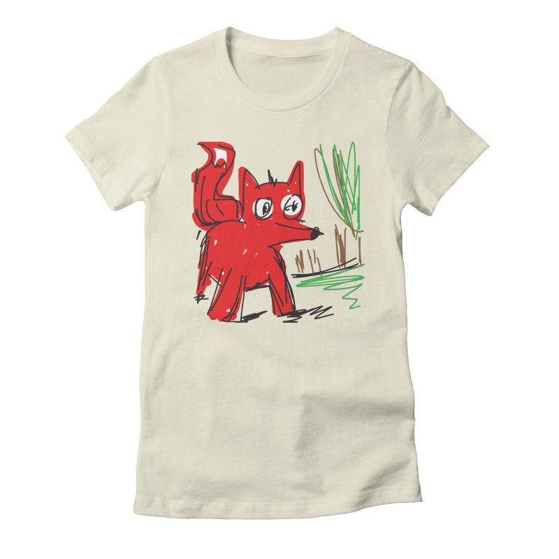 Fox Women's Fitted T-Shirt by rimadi's Artist Shop