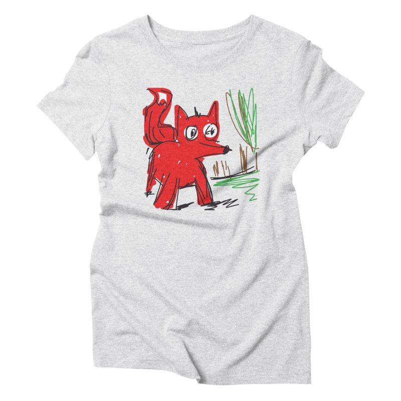 Fox Women's Triblend T-Shirt by rimadi's Artist Shop