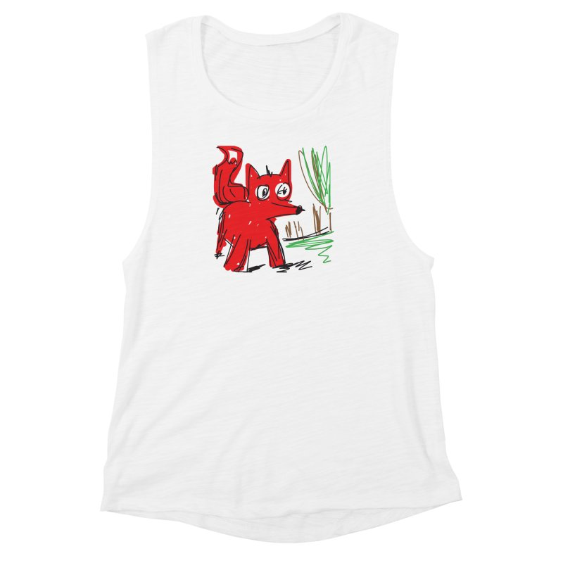 Fox Women's Muscle Tank by rimadi's Artist Shop
