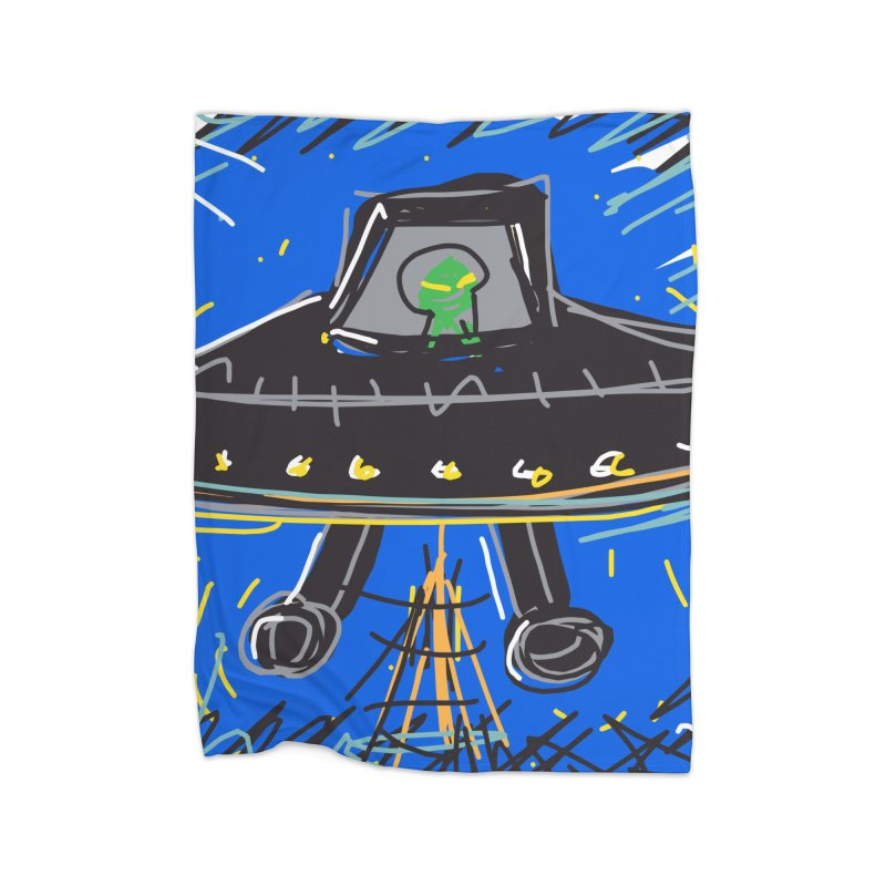 UFO Home Blanket by rimadi's Artist Shop
