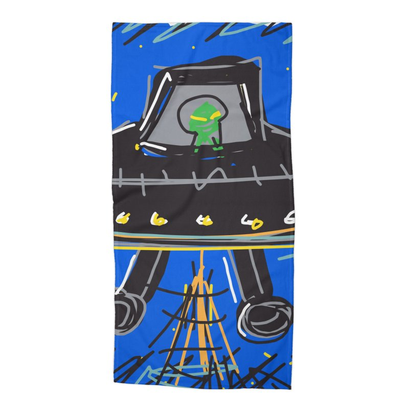 UFO Accessories Beach Towel by rimadi's Artist Shop