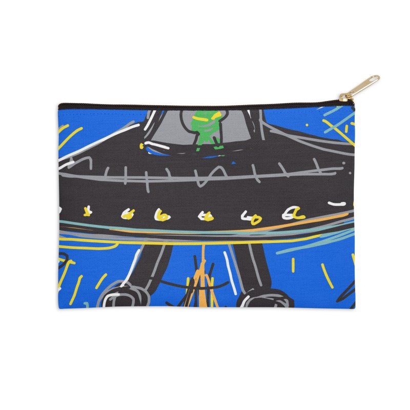UFO Accessories Zip Pouch by rimadi's Artist Shop
