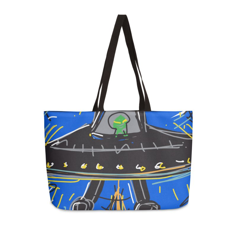 UFO Accessories Weekender Bag Bag by rimadi's Artist Shop