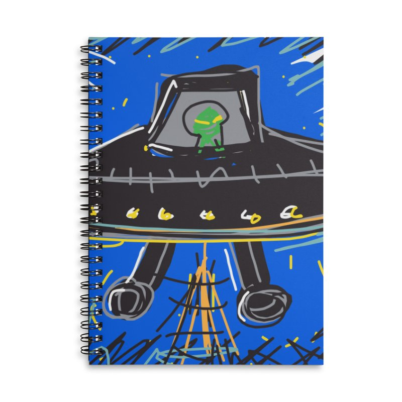 UFO Accessories Lined Spiral Notebook by rimadi's Artist Shop