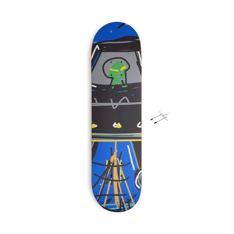 UFO Accessories With Hanging Hardware Skateboard by rimadi's Artist Shop