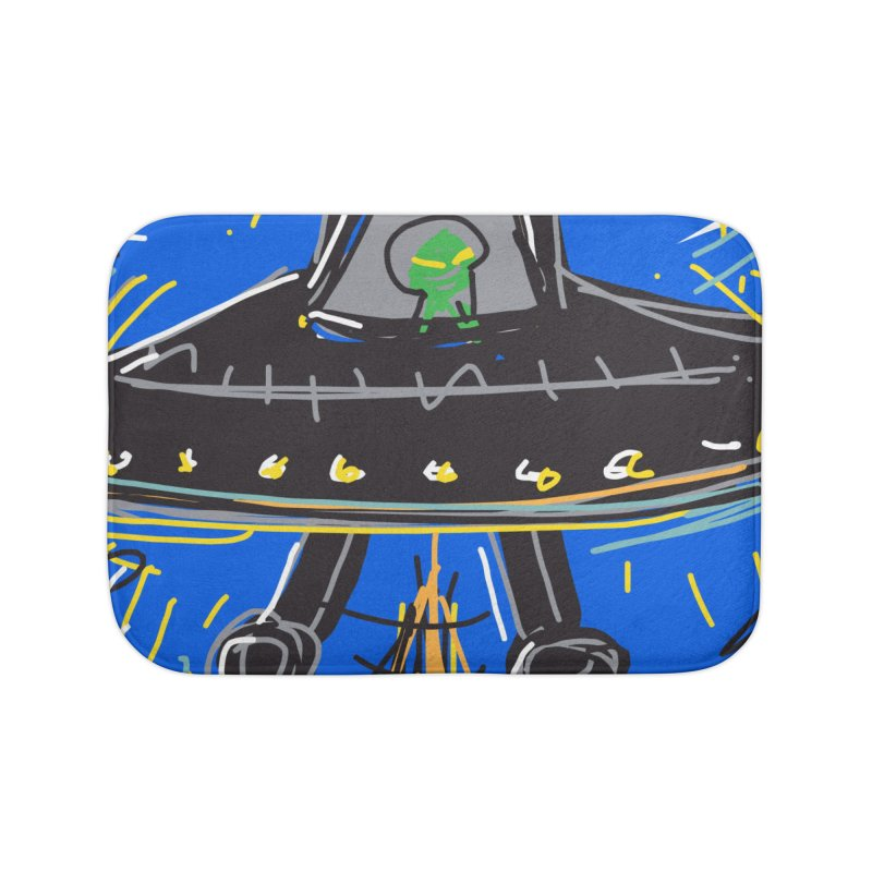 UFO Home Bath Mat by rimadi's Artist Shop