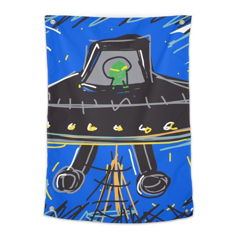 UFO Home Tapestry by rimadi's Artist Shop