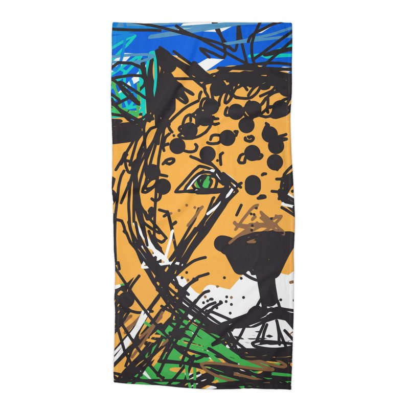 Jaguar Accessories Beach Towel by rimadi's Artist Shop