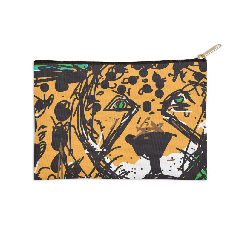 Jaguar Accessories Zip Pouch by rimadi's Artist Shop