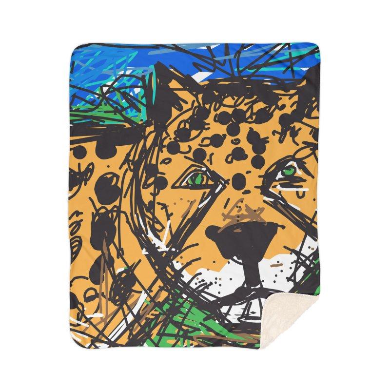 Jaguar Home Sherpa Blanket Blanket by rimadi's Artist Shop