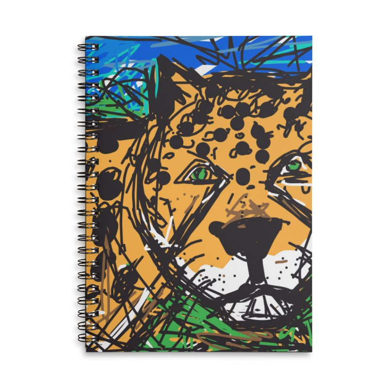 Jaguar Accessories Lined Spiral Notebook by rimadi's Artist Shop