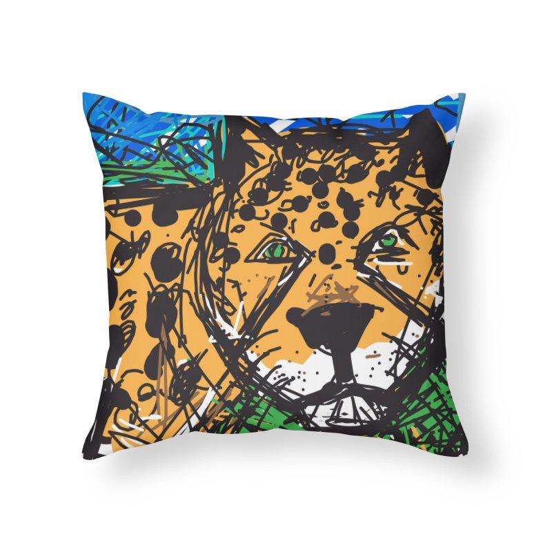 Jaguar Home Throw Pillow by rimadi's Artist Shop