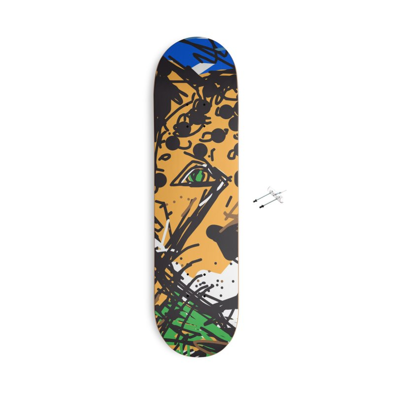 Jaguar Accessories With Hanging Hardware Skateboard by rimadi's Artist Shop