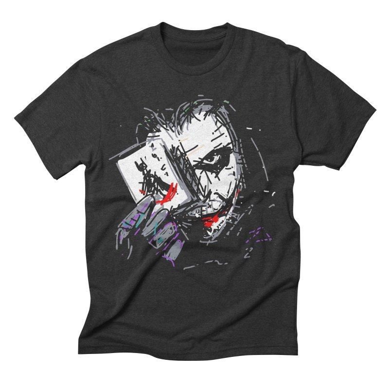Joker Men's Triblend T-Shirt by rimadi's Artist Shop