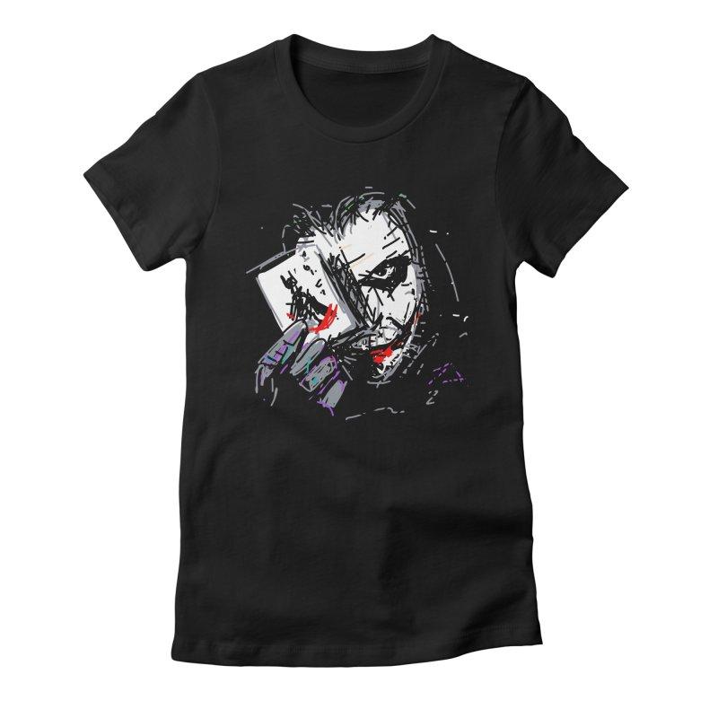 Joker Women's Fitted T-Shirt by rimadi's Artist Shop