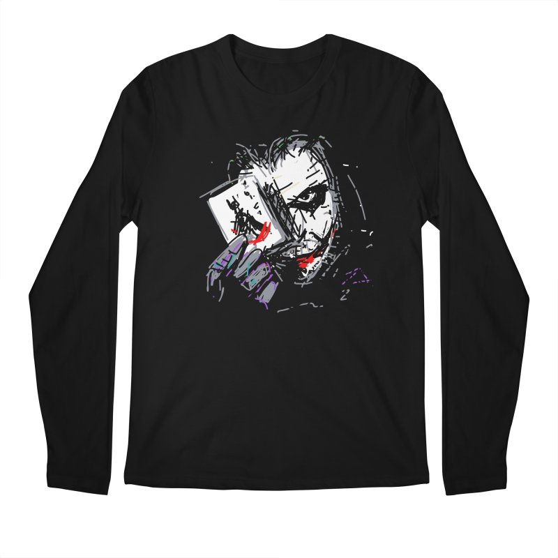Joker Men's Regular Longsleeve T-Shirt by rimadi's Artist Shop