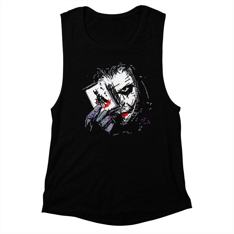 Joker Women's Muscle Tank by rimadi's Artist Shop