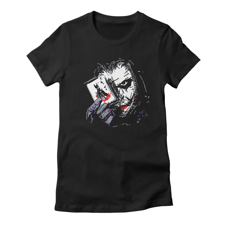 Joker Women's Fitted T-Shirt by rimadi's Artist Shop