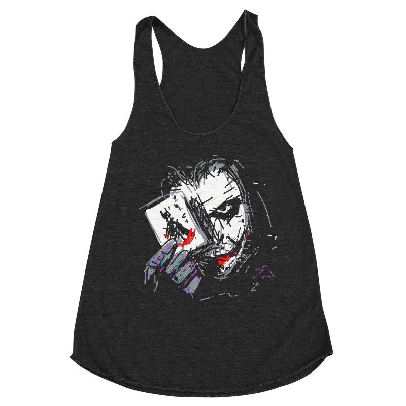 Joker Women's Racerback Triblend Tank by rimadi's Artist Shop