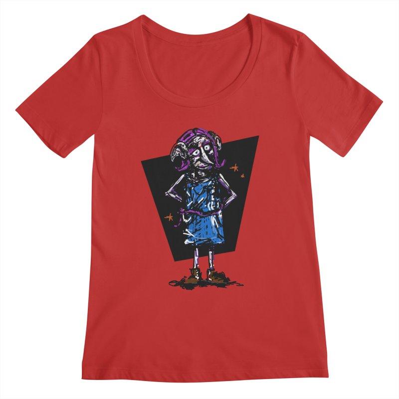 Debby the Housewife-elf Women's Regular Scoop Neck by rimadi's Artist Shop