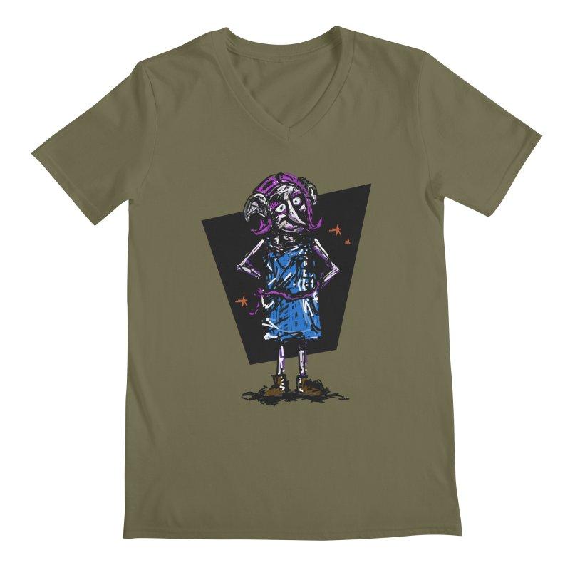 Debby the Housewife-elf Men's Regular V-Neck by rimadi's Artist Shop