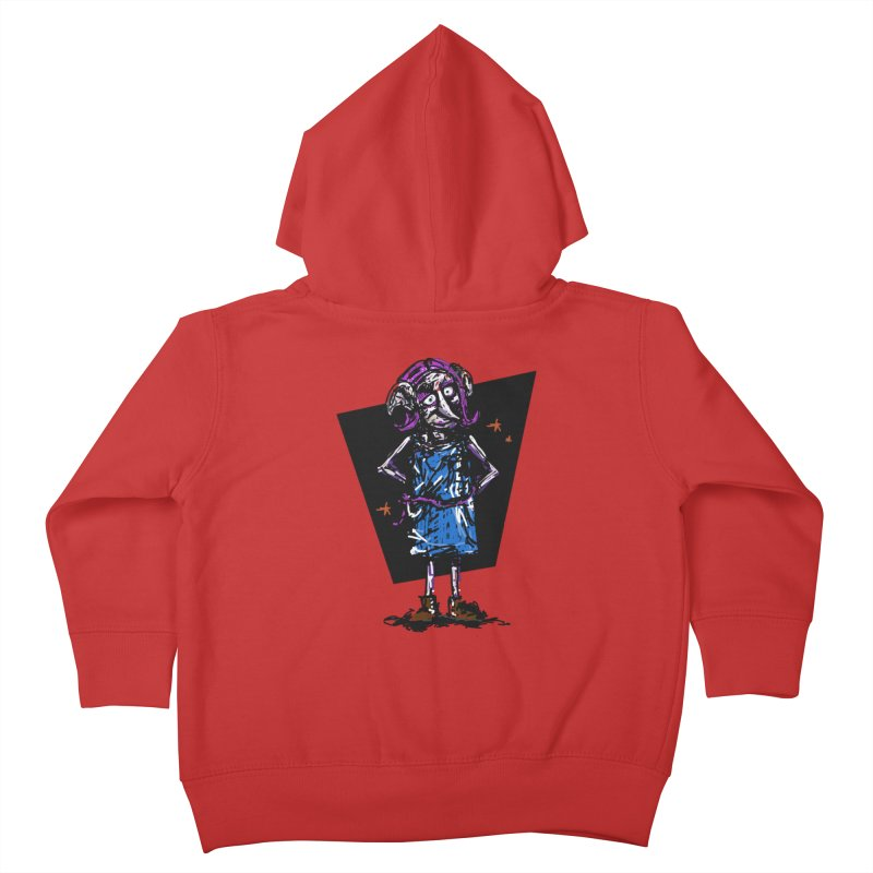 Debby the Housewife-elf Kids Toddler Zip-Up Hoody by rimadi's Artist Shop