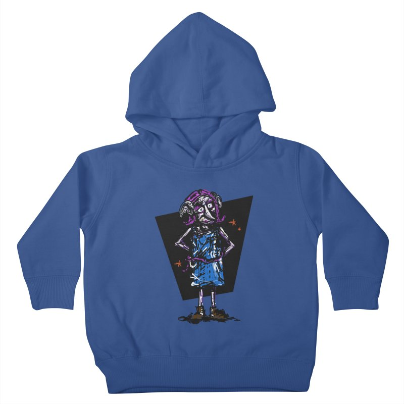 Debby the Housewife-elf Kids Toddler Pullover Hoody by rimadi's Artist Shop