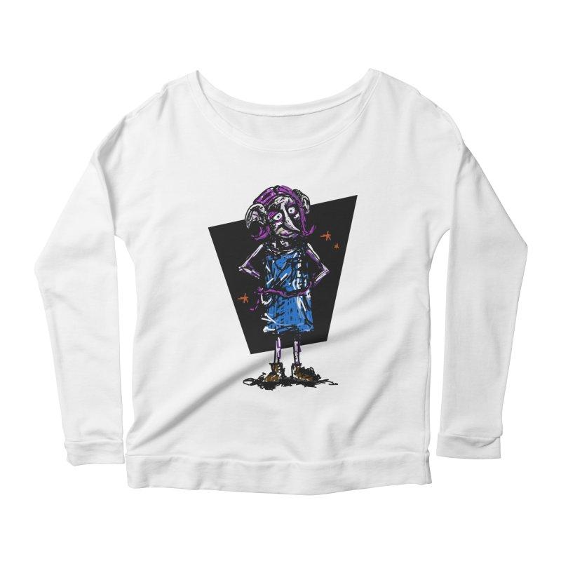 Debby the Housewife-elf Women's Scoop Neck Longsleeve T-Shirt by rimadi's Artist Shop