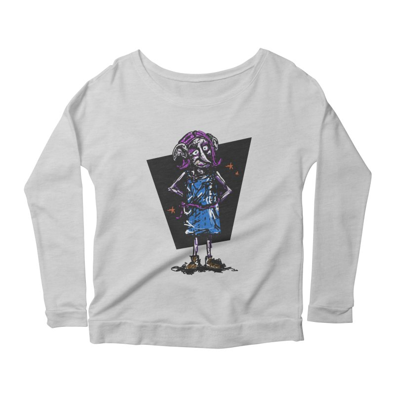 Debby the Housewife-elf Women's Scoop Neck Longsleeve T-Shirt by rimadi's Artist Shop