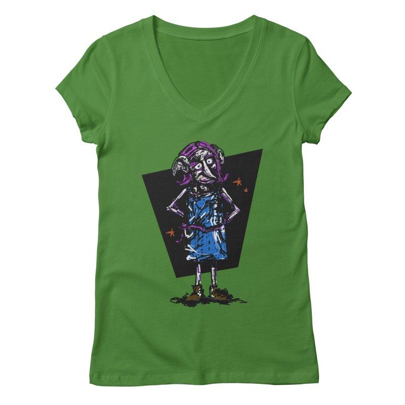 Debby the Housewife-elf Women's Regular V-Neck by rimadi's Artist Shop