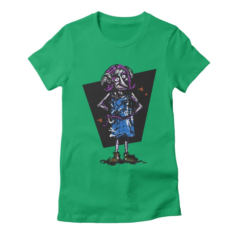 Debby the Housewife-elf Women's Fitted T-Shirt by rimadi's Artist Shop