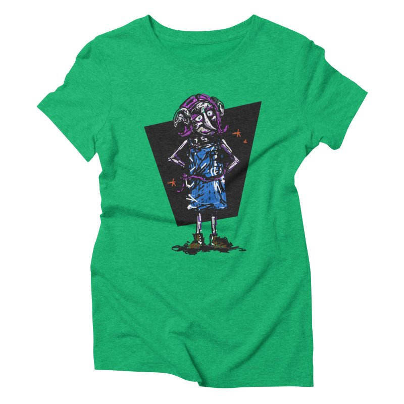 Debby the Housewife-elf Women's Triblend T-Shirt by rimadi's Artist Shop