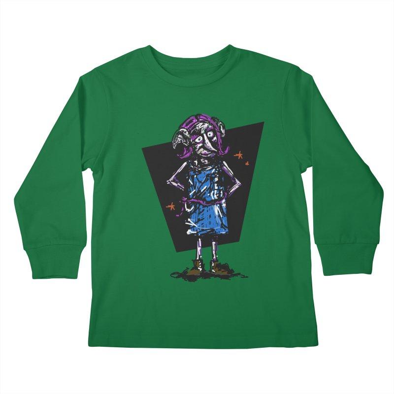 Debby the Housewife-elf Kids Longsleeve T-Shirt by rimadi's Artist Shop