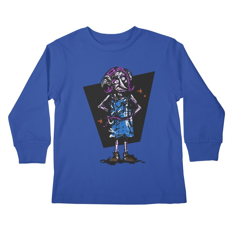 Debby the Housewife-elf Kids Longsleeve T-Shirt by rimadi's Artist Shop