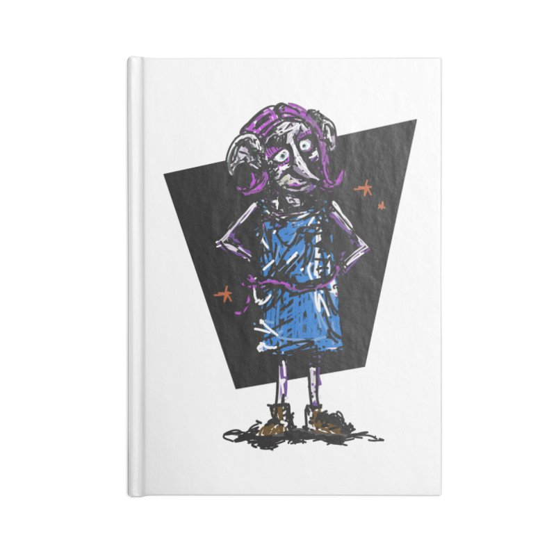 Debby the Housewife-elf Accessories Blank Journal Notebook by rimadi's Artist Shop