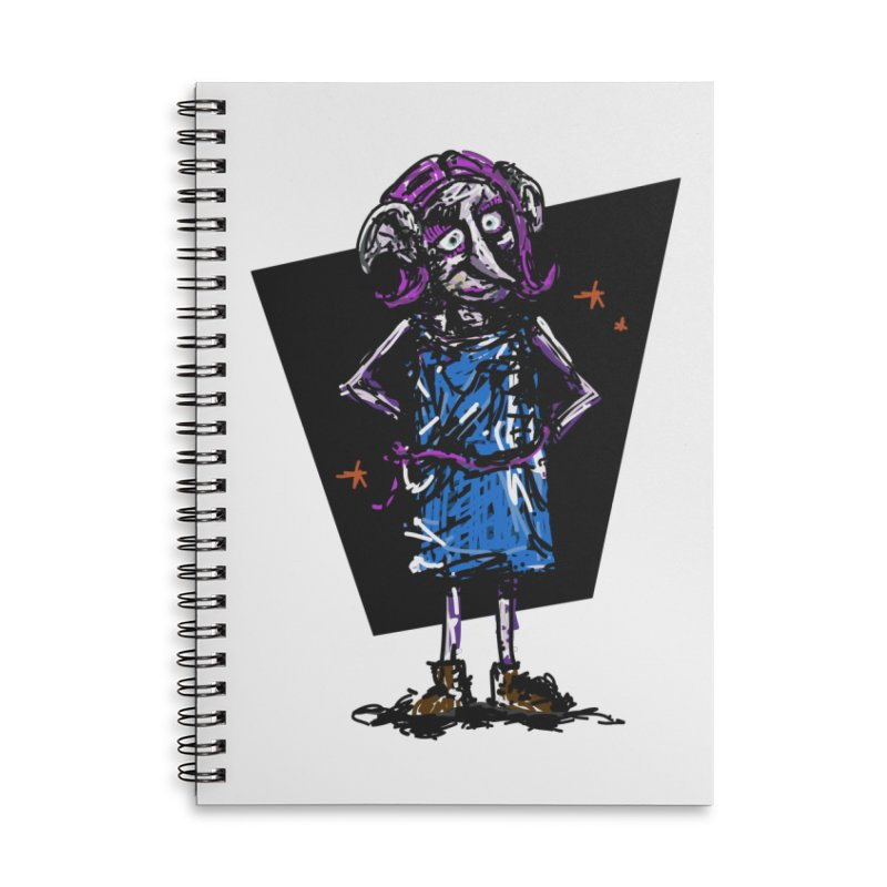 Debby the Housewife-elf Accessories Lined Spiral Notebook by rimadi's Artist Shop