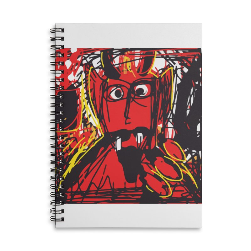 Devil Accessories Lined Spiral Notebook by rimadi's Artist Shop