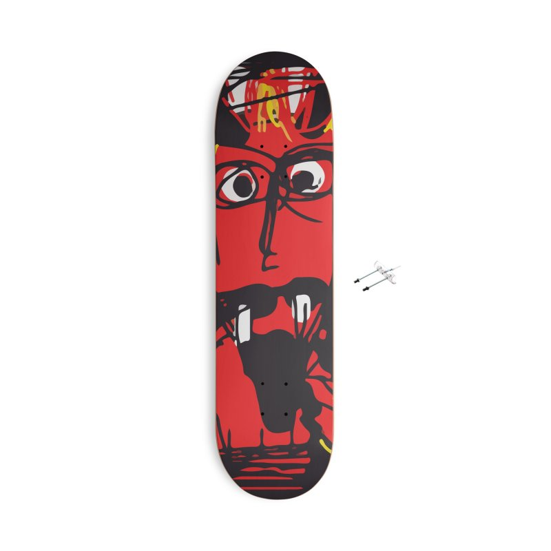 Devil Accessories With Hanging Hardware Skateboard by rimadi's Artist Shop