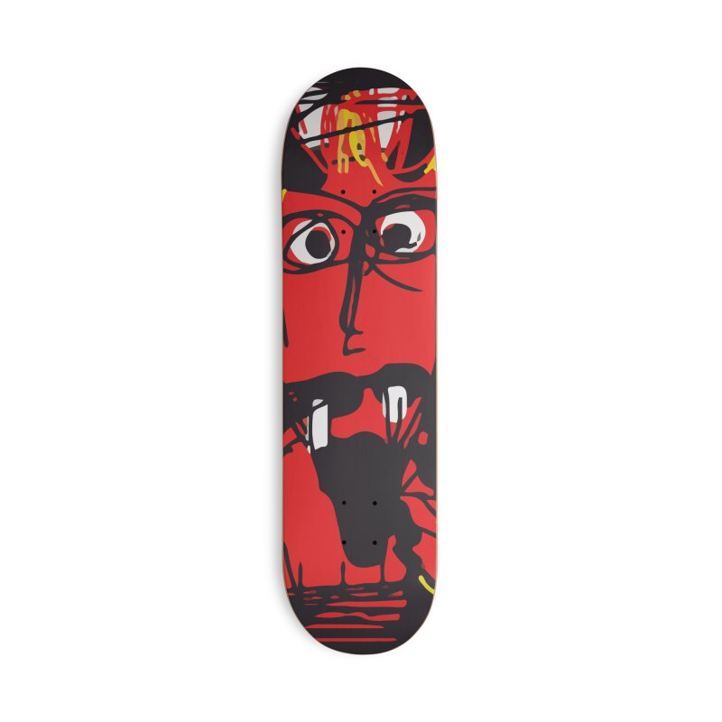 Devil Accessories Deck Only Skateboard by rimadi's Artist Shop
