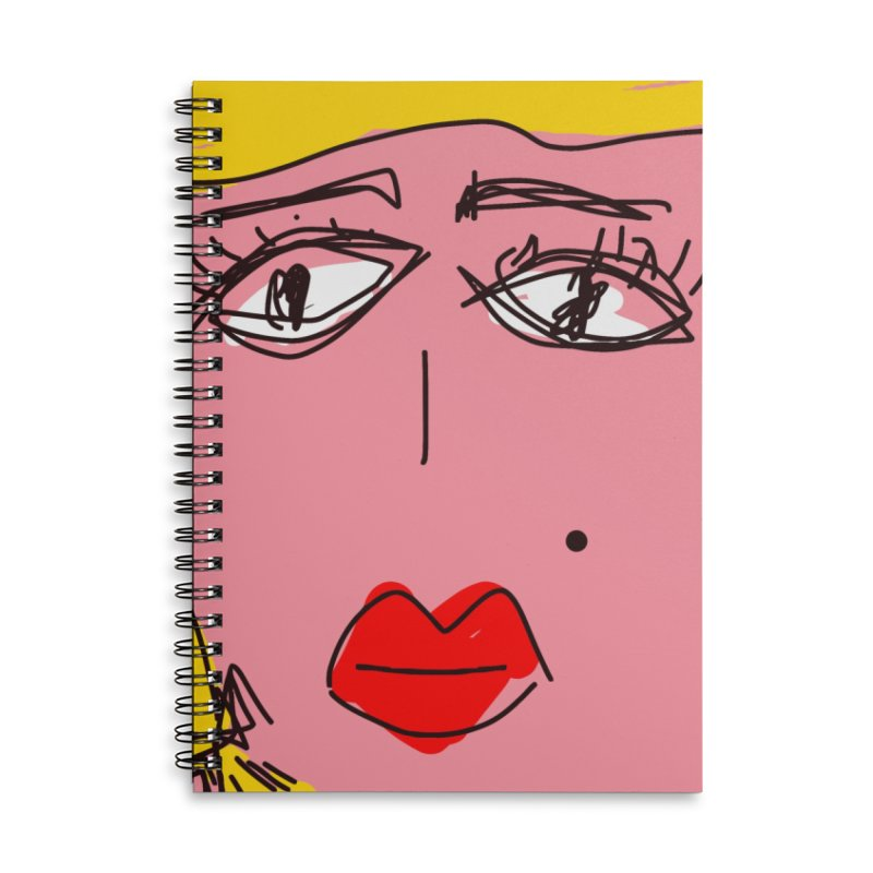 Blonde Accessories Lined Spiral Notebook by rimadi's Artist Shop