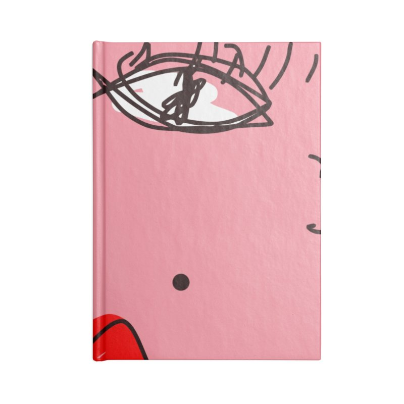 Blonde Accessories Lined Journal Notebook by rimadi's Artist Shop