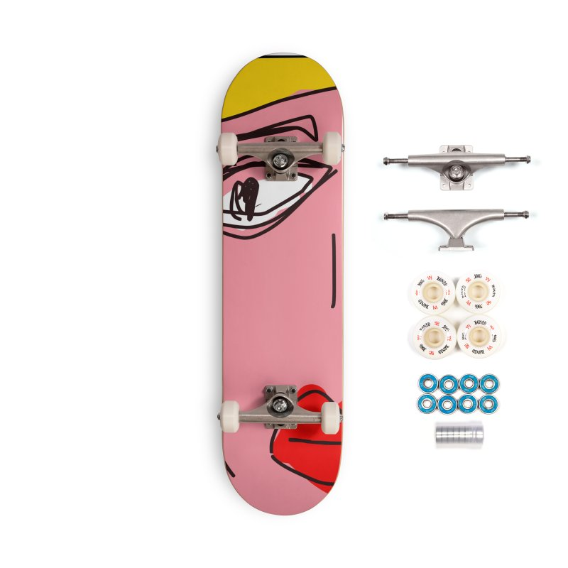 Blonde Accessories Complete - Premium Skateboard by rimadi's Artist Shop