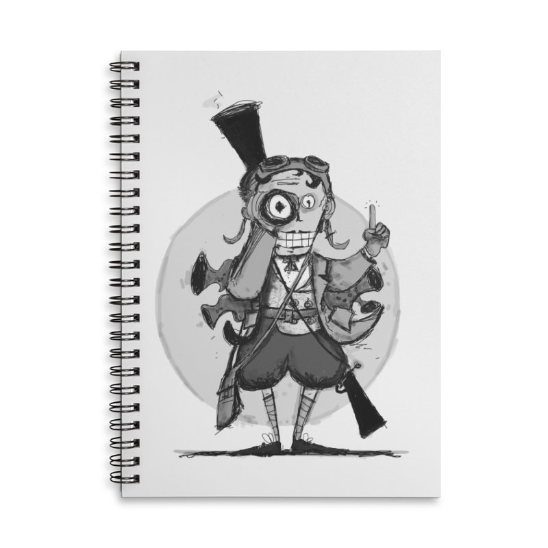 Steampunk Explorer Accessories Lined Spiral Notebook by rimadi's Artist Shop